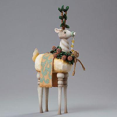 4048057 Jim Shore River's End Rustic Reindeer w/wreath Mixed Media NIB Christmas