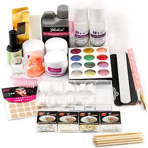 Professional-Nail-Art-Acrylic-Primer-Powder-Liquid-Tips-Practice-Tool-Full-Kit