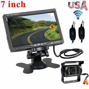 Wireless IR Rear View Backup Camera Night Vision System +7