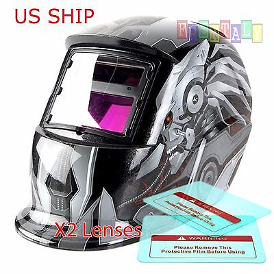 Hg Pro Solar Auto Darkening Welding Helmet Arc Tig Mig Certified Mask Grinding R