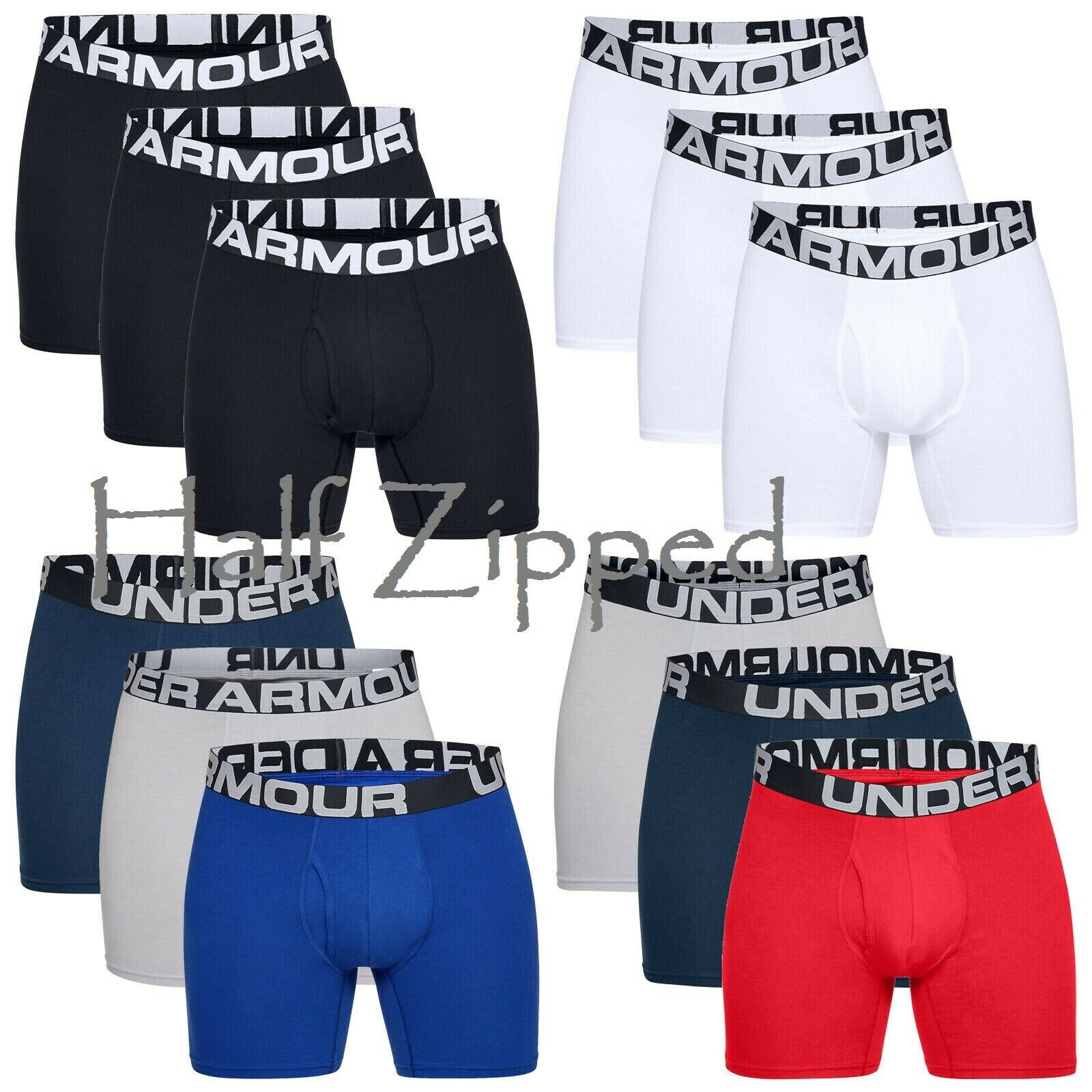 Under Armour Charged Cotton 6 Novelty Boxerjock 3 Pack