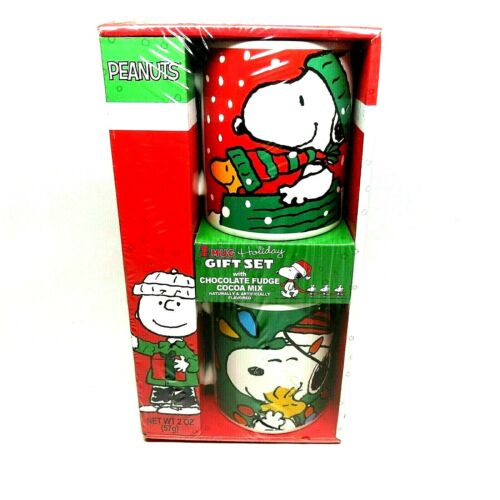 Peanuts 2 Galerie Mug Christmas Set 2016 Snoopy Woodstock Coco Mix EXPIRED New