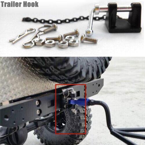 2x Metall Anhänger Haken /& Kette für 1//10 D90 Axial SCX10 RC Rock