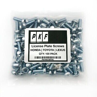 License Plate Screws For HONDA  TOYOTA  LEXUS Qty100
