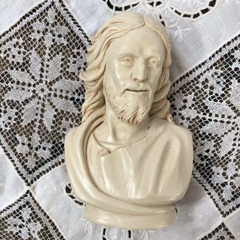 "Jesus Christ Bust Statue Religious Stone Sculpture  5"" Art"