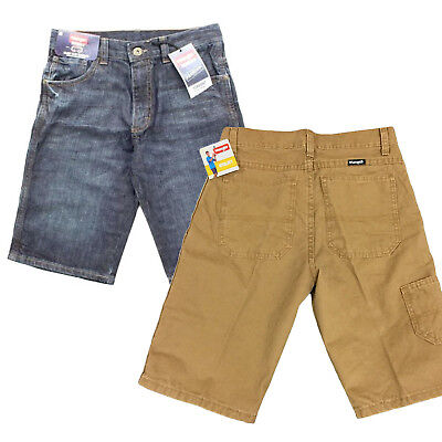 Wrangler Boys Original Straight Denim Jean Utility Cargo Shorts Adjustable Waist ()