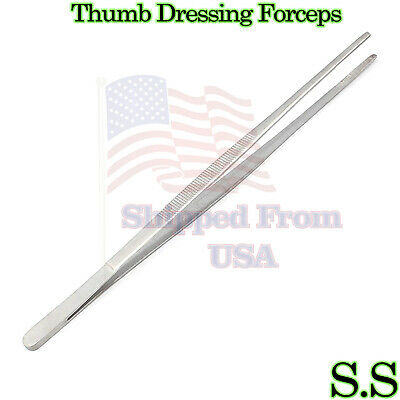 Thumb Dressing Forceps 10 Tweezer Serrated Teeth Surgical Instruments