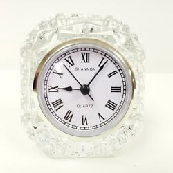 Luxe by Godinger Emerald Small 4 Desk Crystal Clock