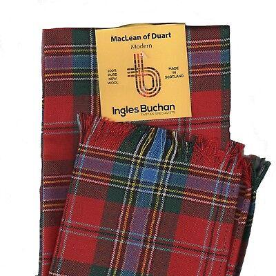 Scarf MacLean of Duart Modern Tartan Scottish Wool Plaid  Maclean Duart Tartan