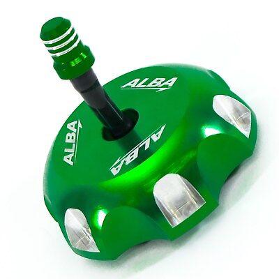 Kawasaki KX 250   2000-2004    Billet Gas Cap   Alba Racing   Green    402 T6 G