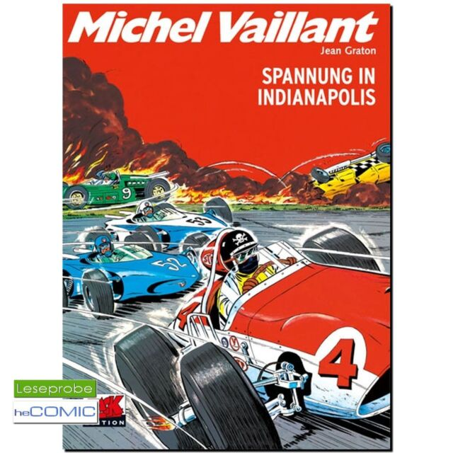 Michel Vaillant  11 Spannung in Indianapolis RENNFAHRER COMIC NEU LP 60er