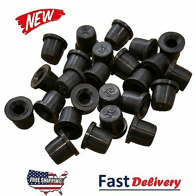 - (25 Pack) Brake Bleeder Screw Caps Grease Zerk Fitting Cap Rubber Dust Cover