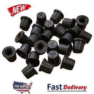 (50 Pack) Brake Bleeder Screw Caps Grease Zerk Fitting Cap Rubber Dust Cover