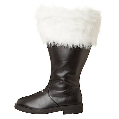 Professional MEN'S Christmas Costume WIDE CALF Santa Claus BOOTS - Santa Costume Boots