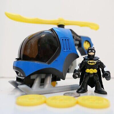 Imaginext DC Super Friends BATMAN Figure w/ Helicopter & 3 Discs !!!
