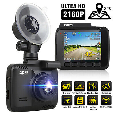 Car Dash Cam- 4K Ultra HD 2160P - Built-In WiFi & GPS, Parking Mode,Night Vision