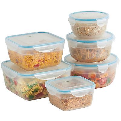 VonShef 6pc Microwave Freezer Safe Plastic Food Storage Container Set & Lids