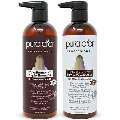 PURA D'OR Dor ColorHarmony Purple Shampoo & Conditioner