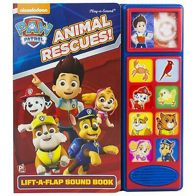 Paw Patrol Lift A Flap Sound Book by PI