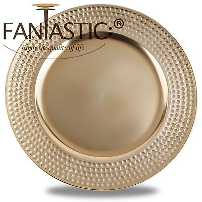 Fantastic:)™ Round 13Inch Charger Plate With Metallic Finish ( Hammer Pattern ) Round 13 Charger