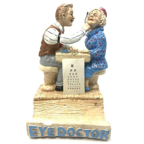 Vtg Lauren Marems Eye Doctor Sculpture Figurine 1993 Card Holder