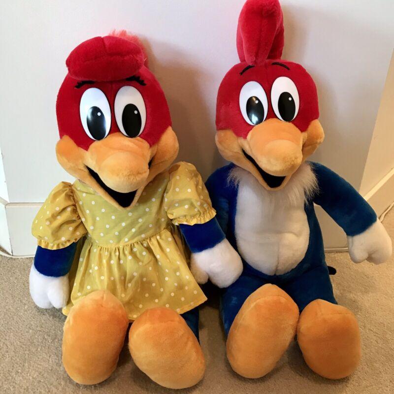 "Vintage 1989 Winnie Woody Woodpecker 25"" Plush Set Walter Lantz Productions"