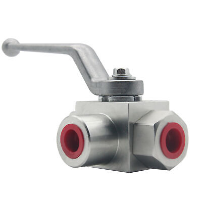 Hydraulic 3 Way Steel Ball Valve 38 Npt 7250 Psi