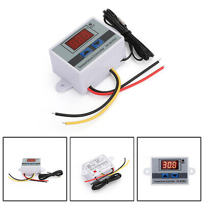 Dc 12v Digital Led Temperature Controller Thermostat Xh-w3001 Switch Probe Usa