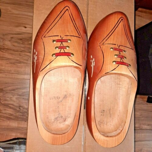 Authentic Dutch Wooden Shoes Clogs Made in Holland Size 28cm 43 Unisex