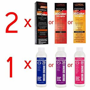 Details about 2 Loreal Excellence HiColor HiLights Permanent Hair