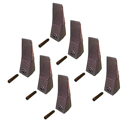 7 - Bobcat Style Mini Excavator Skid Steer Bucket Dirt Teeth W Pins- 6728801