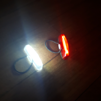 Cateye Rapid X rechargeable front and rear lights