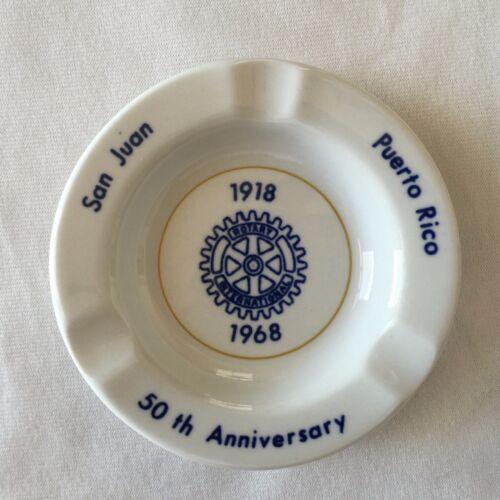 Ashtray Rotary International 50 Anniversary 68 San Juan Puerto Rico Caribe China