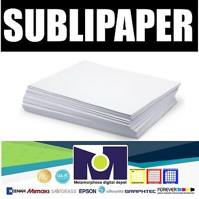 """Dye Sublimation Transfer Paper SUBLIPAPER 100 Sheets 8.5""""x11"""" FREE DELIVERY"""