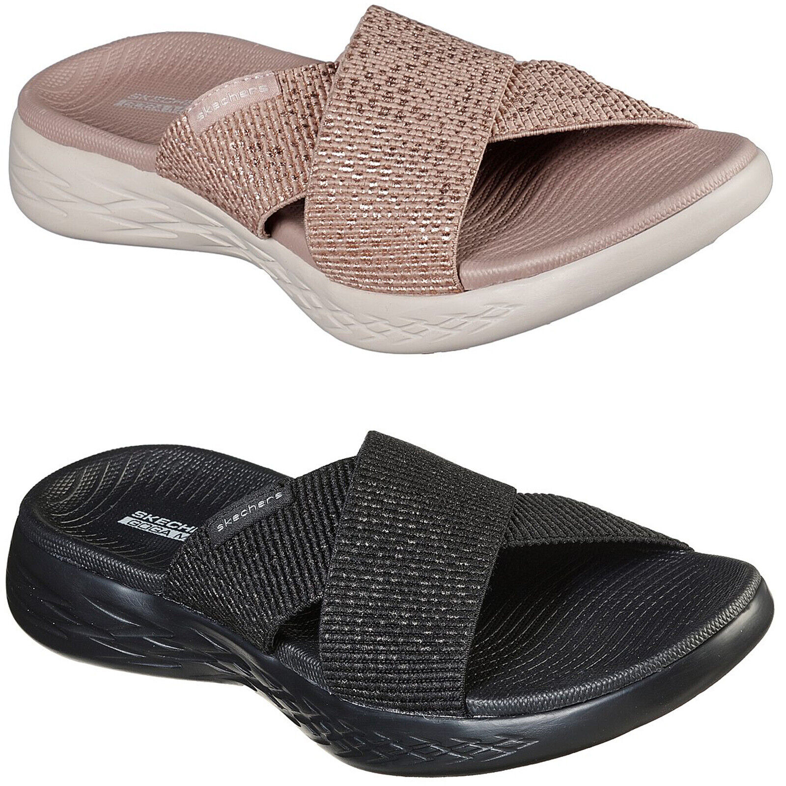 Skechers On The Go 400 Discovery Sandals With Goga Max 14670 Uk 5 Eur 38 Black For Sale Online Ebay