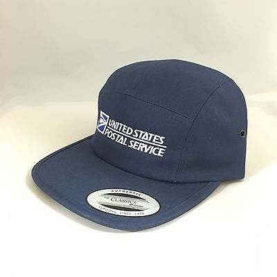 5 Panel USPS Cap Yupoong United States Postal Service Classic Jockey Hat Navy