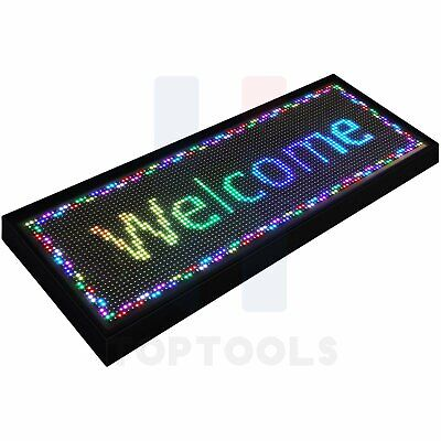 Bright 40x15 Led Wifi Programmable Scrolling Sign Display Neon Light Business