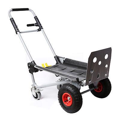 200kg Capacity Steel Convertible Hand Truck Cart Wheel Dolly Trolley Heavy Duty