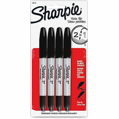 Sharpie Twin Tip Permanent Marker Fineultra Fine Point 4pk Ast 32175pp