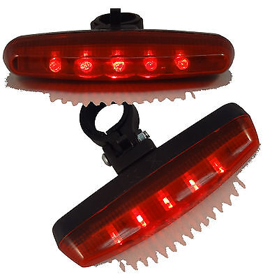 5 LED Red Tail Light 7 Mode Safety Flashing Rear Lamp for Bike Bicycle Cycling