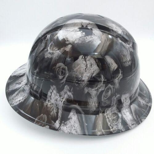 FULL BRIM Hard Hat custom hydro dipped , NEW 3D BONE HEAD SKULLS HOT NEW 2