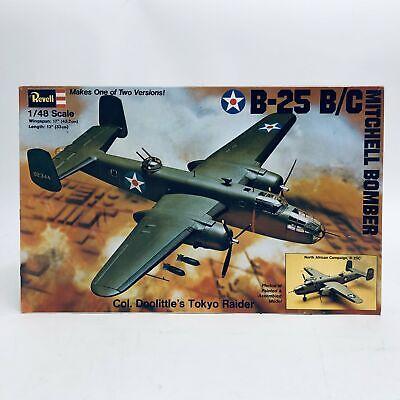 Revell 1/48 US B25-B/C Mitchell Bomber Doolittle Raid Open Box H285C
