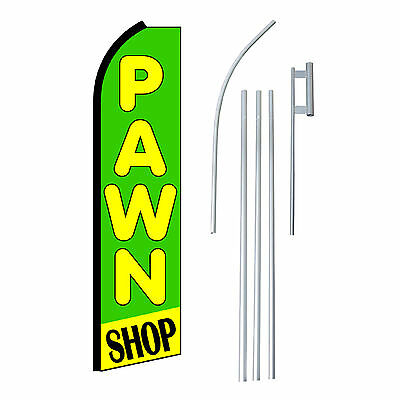 Pawn Shop Grnyel 15 Complete Swooper Flag Starter Kit Bow Feather