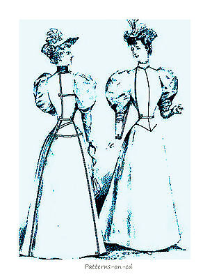 Victorian jacket dress costume cutting DRESSMAKER Guide