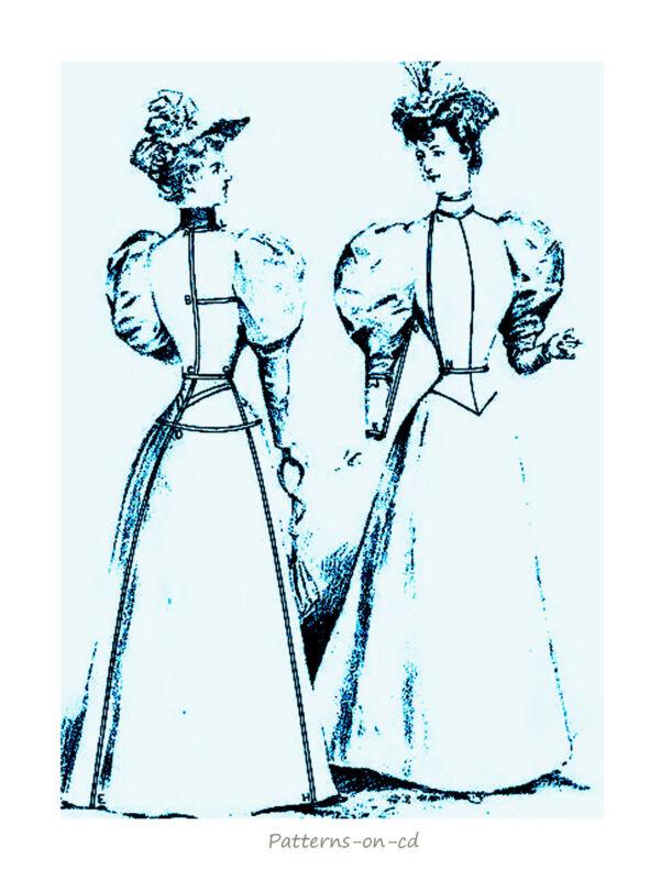 Victorian jacket dress costume cutting DRESSMAKER Guide
