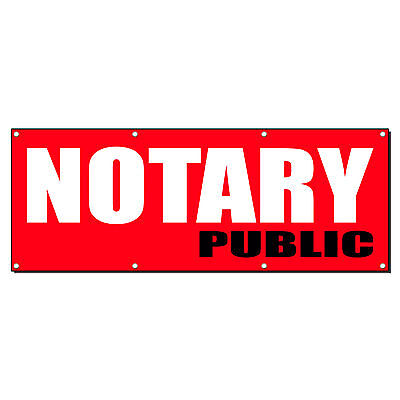 Notary Public Promotion Business Sign Banner 4 X 2 W 4 Grommets