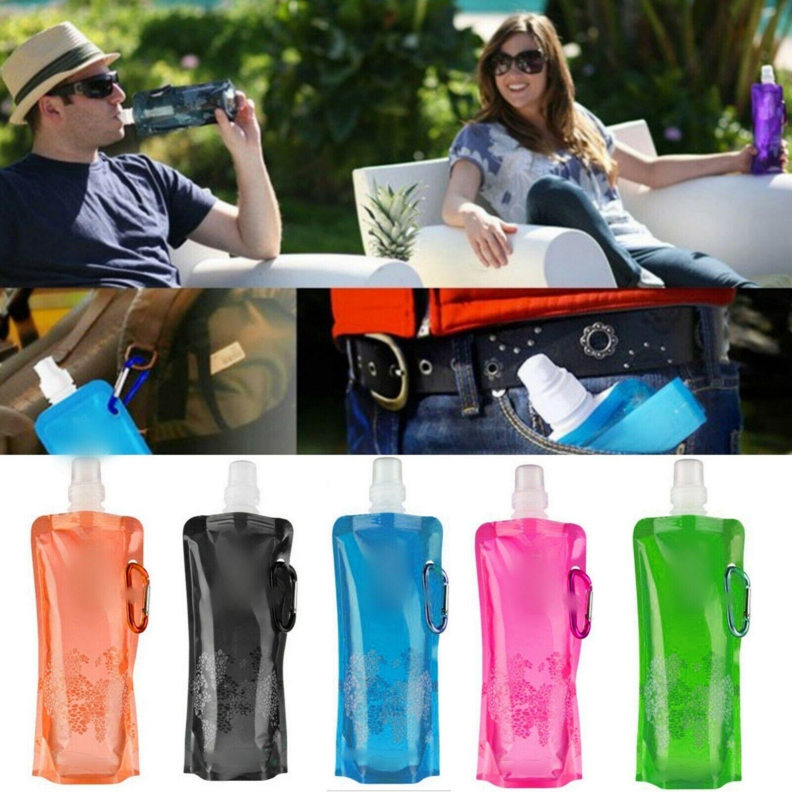 500ml Trinkflasche Faltbar Festival Sommer Beutel Wasserflasche Flasche Camping