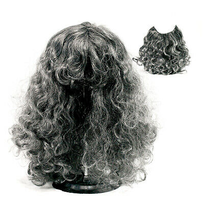 The Hobbit Gandalf Wig & Beard Set Adult Halloween Costume Accessory Grey
