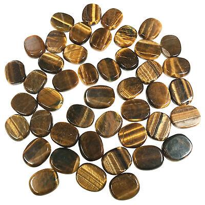 Natural Tiger's Eye Gemstone Pocket Size Palm Stone Crystal 1 Inch Gemstone Crystal Palm Stone