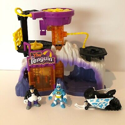 Fisher Price Imaginext The Penguin Lair Headquarters Playset and Figures Vehicle